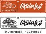fresh pretzel in the form of... | Shutterstock .eps vector #472548586