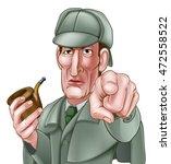 a sherlock holmes style... | Shutterstock .eps vector #472558522