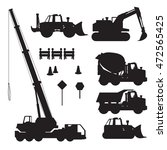 construction vehicle silhoette | Shutterstock .eps vector #472565425