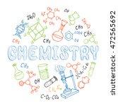 set of hand drawn chemistry...   Shutterstock . vector #472565692
