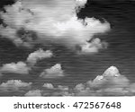 halftone black and white clouds ... | Shutterstock .eps vector #472567648