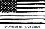 usa flag with ink grunge... | Shutterstock .eps vector #472568806