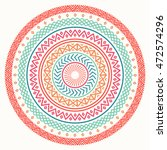 Ethnic mandala. Tribal hand drawn line geometric seamless pattern. Border. Doodles. Native vector illustration. Background. African, mexican, indian, oriental ornament. Henna tattoo style. Circle