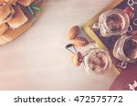 sliders with veggie tray on the ... | Shutterstock . vector #472575772