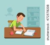 vector illustration school boy... | Shutterstock .eps vector #472578208