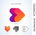 vector abstract arrows logo... | Shutterstock .eps vector #472589092