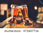 two friends toasting with... | Shutterstock . vector #472607716