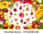 wedding card. the flat layout ... | Shutterstock . vector #472608148