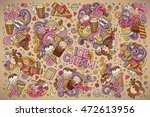 colorful vector hand drawn... | Shutterstock .eps vector #472613956