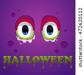 flat halloween monster icon. ... | Shutterstock .eps vector #472620112