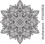 abstract vector black round... | Shutterstock .eps vector #472620826