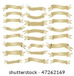 collection of old banners with... | Shutterstock .eps vector #47262169