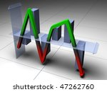 up and down business chart that ... | Shutterstock . vector #47262760