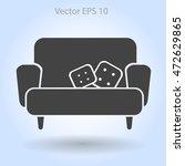 sofa with pillows vector...   Shutterstock .eps vector #472629865