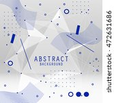 vector abstract background with ... | Shutterstock .eps vector #472631686