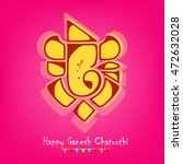 elegant lord ganpati design on... | Shutterstock .eps vector #472632028