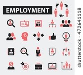 employment icons | Shutterstock .eps vector #472641118