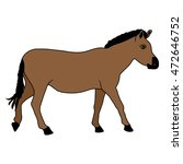horse mustang beast icon
