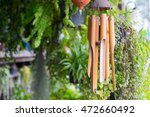 Close Up On A Wooden Wind Chime