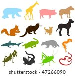 set of animals icons   ... | Shutterstock .eps vector #47266090