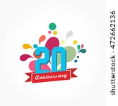 rousing colorful anniversary... | Shutterstock .eps vector #472662136