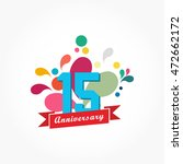 rousing colorful anniversary... | Shutterstock .eps vector #472662172