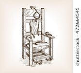 Electric Chair Sketch Style...