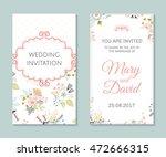 wedding set. romantic vector... | Shutterstock .eps vector #472666315