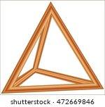 tetrahedron model | Shutterstock .eps vector #472669846