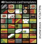 40 colorful business cards | Shutterstock .eps vector #47267596