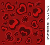 red hearts background | Shutterstock .eps vector #47267671