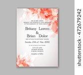 floral wedding invitation... | Shutterstock .eps vector #472679242