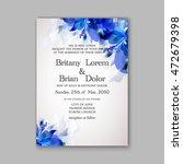 floral wedding invitation... | Shutterstock .eps vector #472679398