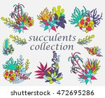 composition of succulents ... | Shutterstock .eps vector #472695286