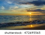 beautiful majestic sunset by... | Shutterstock . vector #472695565