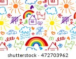 seamless pattern with doodle... | Shutterstock .eps vector #472703962
