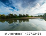 panorama of wild river with... | Shutterstock . vector #472713496