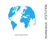 world map connections vector... | Shutterstock .eps vector #472717456