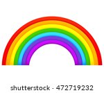 colorful rainbow isolated on...   Shutterstock .eps vector #472719232