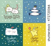 set of pajama party card.... | Shutterstock .eps vector #472720366