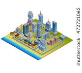isometric city with modern and ... | Shutterstock .eps vector #472721062