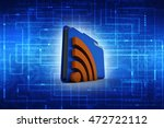 folder with rss symbol.isolated ...