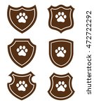 Pawprint Grunge Web Icons  ...