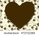Heart Shaped Paw Print Frame  ...
