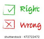 vector set of right and wrong...