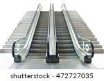 Escalator Isolated On White...