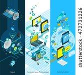 telecommunication isometric... | Shutterstock .eps vector #472731226