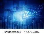 2d illustration business graph | Shutterstock . vector #472732882
