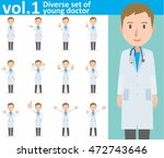 diverse set of young doctor on... | Shutterstock .eps vector #472743646