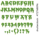slime alphabet with numbers...